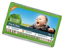 Seventh Generation Free & Clear, Unbleached Diapers, Size 1