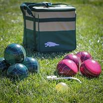 Lion Sports Best 107 MM Tournament Resin Bocce Set in PVC