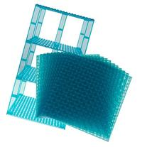 "Premium Clear Turquoise Stackable Base Plates - 10 Pack 6"" x"