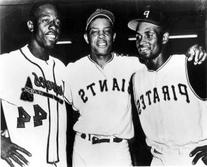 Clemente, Mays & Aaron 8x10 Photo