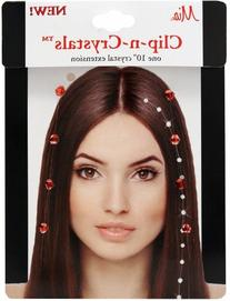 Mia Clip-n-Crystals Hair Crystals, Red, 1 Ounce