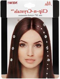 Mia Clip-n-Crystals Hair Crystals, White, 1 Ounce