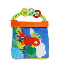 Cloth Baby Book - Teether Toy - Squeak, Rattle, Crinkle -