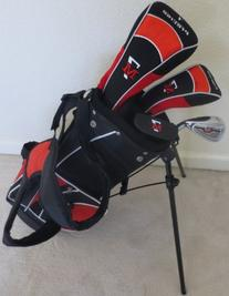 Childrens Golf Club Set with Stand Bag for Kids Ages 3-6 Red