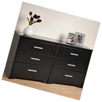 Coal Harbor Six Drawer Dresser in Black