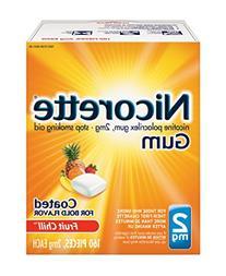 Nicorette Nicotine Gum Fruit Chill 2 milligram Stop Smoking