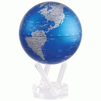 "4.5"" Cobalt Blue and Silver MOVA Globe"