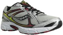 Saucony Men's Cohesion 7 Running Shoe,Silver/Black/Red,14 M
