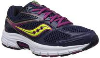 Saucony Women's Cohesion 8 Road Running Shoe, Navy/Berry/