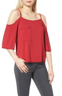 Women's Bailey 44 Cold Shoulder Top, Size X-Small - Red