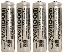 Moonrays 97125 Rechargeable NiCd AA Batteries for Solar-