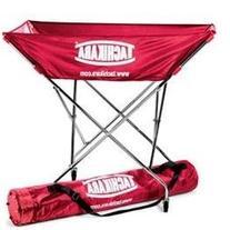 Tachikara Collapsible Hammock-Style Volleyball Cart, Scarlet