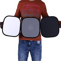 """Neewer Collapsible Hand Hold Tri-Fold Reflector Disc 12""""/"""