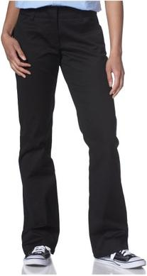 Dickies Girl Juniors' College Bootcut Pant, Black, 5
