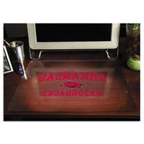 -- Collegiate Desk Pad, U of Arkansas Razorbacks, Red/Black/