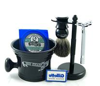Colonel Conk Shave Kit - Safety Razor, Bowl, Badger Brush,