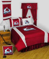 NHL Colorado Avalanche 5pc Jersey Curtains and Valance Set