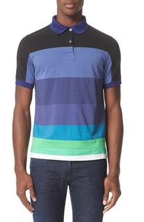 Men's Paul Smith Colorblock Polo, Size X-Large - Blue