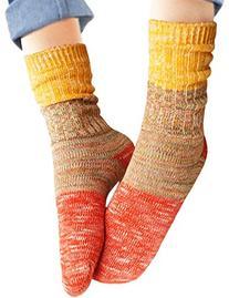 Vero Monte Women's Colorful Cotton Crew Socks
