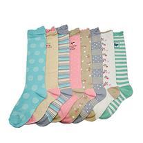 Deer Mum 8 Pairs Girl's Princess Style Knee High Socks -