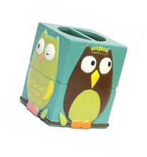 Colorful Perched Owl Bathroom Accessories