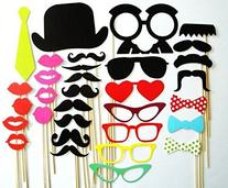 Colorful Props On A Stick Mustache Photo Booth Party Fun
