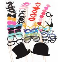 51PCS Colorful Props On A Stick Mustache Photo Booth Party
