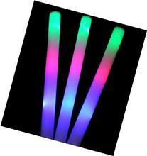 Domire 12 pcs Colorful Sponge Glowsticks Large Glow Sticks
