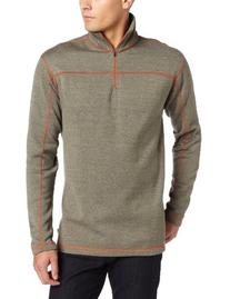 Dakota Grizzly Colton Fleece Zip-Neck Top - Men's Moss, L