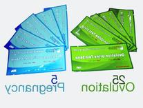 Combo 25  Ovulation & 5  Pregnancy Test Strips