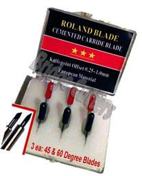6-Pack Roland Combo Replacement Carbide Blade Set 45 + 60