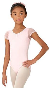 Capezio Girl's Comfort Cap Sleeve Leotard S, Pink