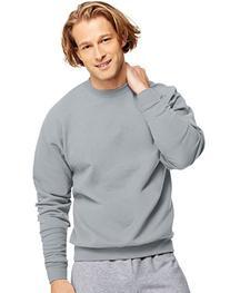 Hanes Men's ComfortBlend Crewneck Sweatshirt, Light Steel,