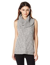 Kensie Women's Comfy Sleeveless Turtleneck Sweater, Ash