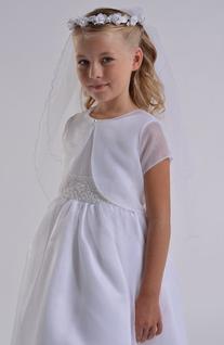 Girl's Us Angels Communion Bolero, Size 14 - White