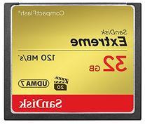 SanDisk Extreme SDCFXSB-032G-G46 32GB CompactFlash Memory