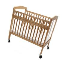 LA Baby Compact Non-folding Wooden Window Crib with Safety