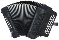 Hohner Compadre E/A/D 3-Row Diatonic Accordion - Black