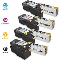 LD Compatible Dell Set of 4 HY 1250c Toner Cartridges: 1