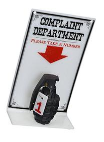 BigMouth Inc The Complaint Department Sign