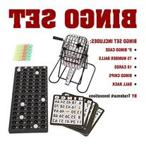 Trademark Innovations 18 Card Bingo Set With 75 Numbered