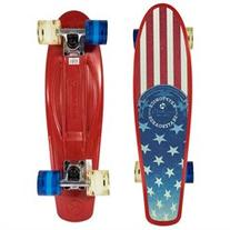Kryptonics Complete Skateboard 22.5 Inch - Red with Printed
