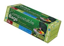 Compost Bags Green 2.6 Gallon Food Scrap Garbage Bags Flat