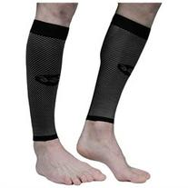 Compression Calf Sleeve Black: Moisture-Wicking, Latex Free