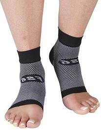 OrthoSleeve FS6 Compression Foot Sleeve , Black, Medium