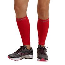 Zensah  Compression Leg Sleeves, Red, Large/X-Large