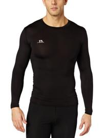 Russell Athletics Men's Compression Long Sleeve Top, Black,