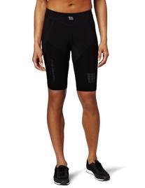 2XU Women's Run Short with Compression, Black/Catalina Blue