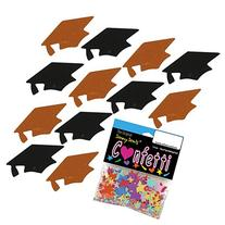 Confetti Grad Cap Black, Orange Combo - 2 Half Oz Pouches