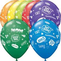 "Qualatex Congrats Messages 50 Pack 11"" Latex Balloons"
